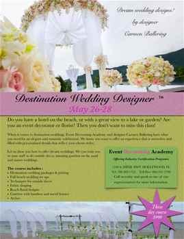 Certified Destination Wedding Designer - 3 day Course