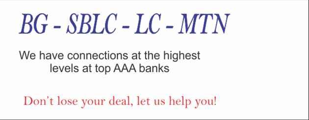 SBLC  BG Available With MonetizationSBLC  BG Available With Monetization AT THE BEST RATES AVAILABLE